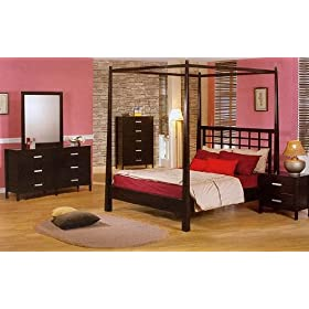 Queen Canopy Six Piece Bedroom Set