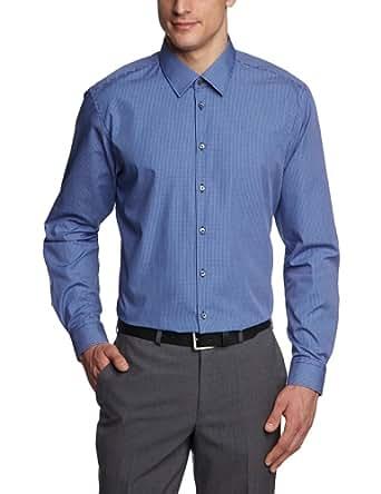 Strellson Premium Herren Businesshemd Slim Fit 11002576 / Quentin, Gr. 44, Blau (323)