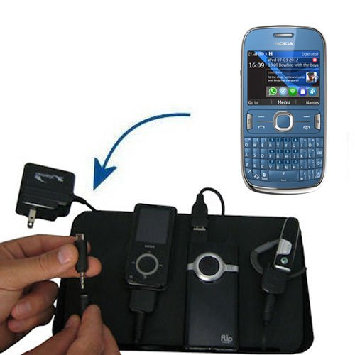 Gomadic Advanced Nokia Asha 302 4-port Charging Station - Uses TipExchange Technology to charge up to four devices simultaneously