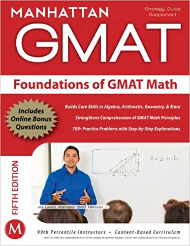Foundations of GMAT Math 5th Edition price comparison at Flipkart, Amazon, Crossword, Uread, Bookadda, Landmark, Homeshop18