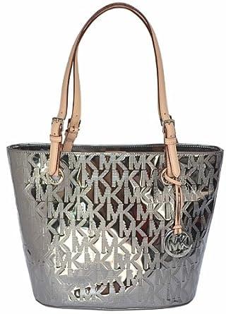 Michael Kors Mk Mirror Metallic Item Md Tote Shoulder Bag