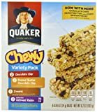 Quaker Chewy Granola Bar, Variety Pack, 8-Count (Pack of 6)