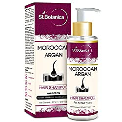 St.Botanica Moroccan Argan Oil Hair Shampoo 100ml - Free from SLS, Paraben (With Silk Protein & Oils)