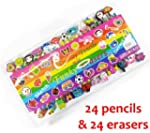 24 Quality Funky Pencils With Erasers...