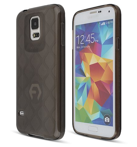 S5 Case, Aqua Bumper, Samsung Mobile Galaxy S 5 Soft Jelly Cover 7 Colors Tpu Slim Fit (At&T, Verizon, Sprint, T-Mobile) - Retail Packaging (Black)