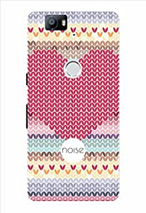 Noise Red Mosiac Printed Cover for Huawei Nexus 6P