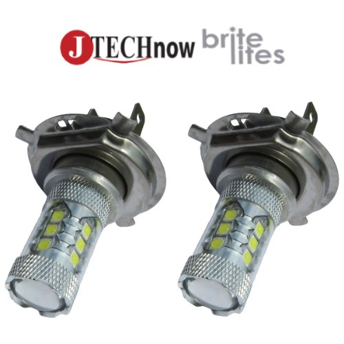 Jtech H4 9003 Hb2 Type 112W High Power Smd Led Fog/Drl Bulb Xenon White Light. Built With Canbus Warning Canceller Function