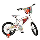 Street Flyers Amazing Spiderman Bike, White, 16-Inch