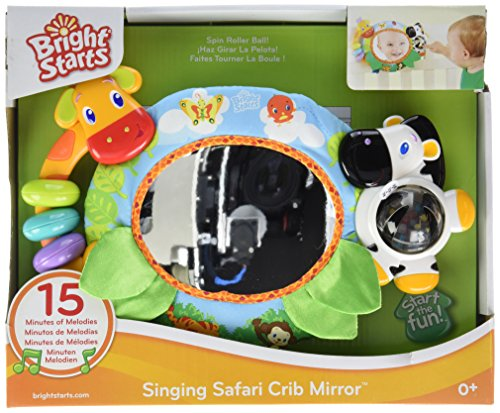 Bright Starts Crib Mirror, Singing Safari (Discontinued by Manufacturer) - 1