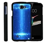 TurtleArmor ® | LG K4 Case | LG Optimus Zone 3 Case | LG Spree | LG Rebel [Slim Duo] Hard Shell Slim Snap On Case Protector Compact Cover on Black Alien and UFO Series - Blue Technology
