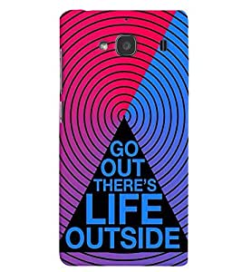 printtech Life Quotes Back Case Cover for Xiaomi Redmi 2S::Xiaomi Redmi 2::Xiaomi Redmi 2 Prime