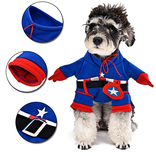[PAWZ Road Pet Halloween Costume Dog Coat Super Hero Flannel Apparels Puppy Outfit Cat Clothes XXL] (Famous Superhero Costumes)