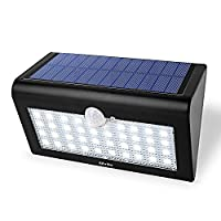 Albrillo Bright 38 LED Solar Powered Wireless Wall Security Light Motion Sensor Lamp Waterproof Outdoor Lighting by Albrillo