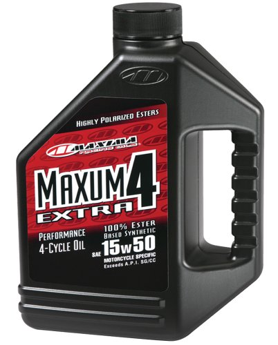 Maxima (329128) Extra4 15W-50 Synthetic 4T Motorcycle Engine Oil - 1 Gallon Jug (Mobile 1 Motorcycle Synthetic Oil compare prices)