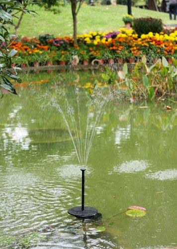 Pk green pompa acqua solare fontana solare di 70 cm 2w for Laghetto giardino plastica