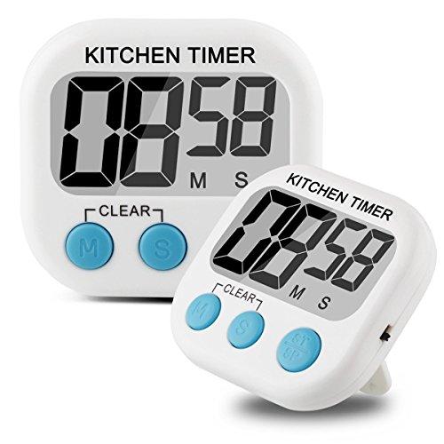 ALAIX cucina casalinga conto alla rovescia allarme timer digitale grande display LCD bianco
