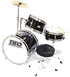 TKO 99TKO99B 3-Piece Junior Drum Set,  Black