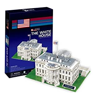 3d Puzzle Paper The White House Model Toys