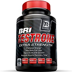 BRI Nutrition Testrone All Natural Supplement With Diindolylmethane, Tongkat Ali, Tribulus Terrestris, Magnesium Sulfate Anhydrous, Boron & Zinc - 30 Day Supply - 60 Capsules