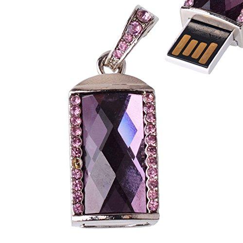 LHN® 8GB Oblong Shape Pendant USB 2.0 Flash Drive (Purple)
