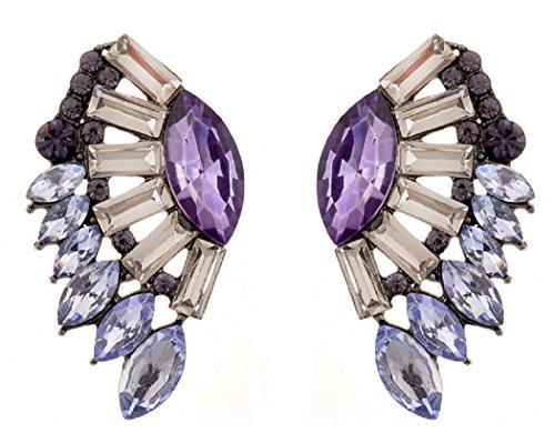 Btime Girls Beauty Fan-Shaped or Wing-Shaped Stud Earrings (2)