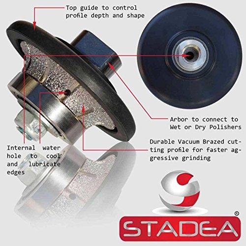 diamond profile wheel 3/8 inch radius - Demi Half Bullnose B10 Router Bit For Marble Stone Granite Edges By STADEA (Tile Profile Blade compare prices)