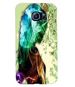 Fuson Smoky Girl Back Case Cover for SAMSUNG GALAXY S6 - D4107