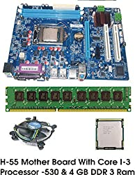 Intel Core I3 540 3.06 GHz + Intel H55 Chipset Motherboard + 4 GB DDR3 RAM
