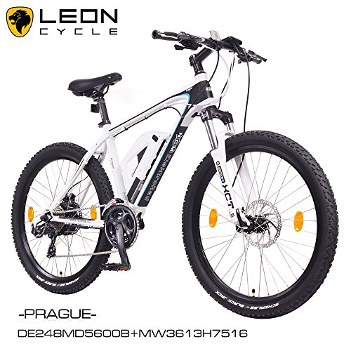 NCM-Prague-26-Zoll-Elektrofahrrad-Mountainbike-E-MTB-E-BikePedelec-ALU-36V-250W-Li-NCM-Akku-mit-13Ahweischwarz