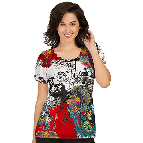 Med-Couture-Womens-Suzie-Paisley-Print-Scrub-Top-Print