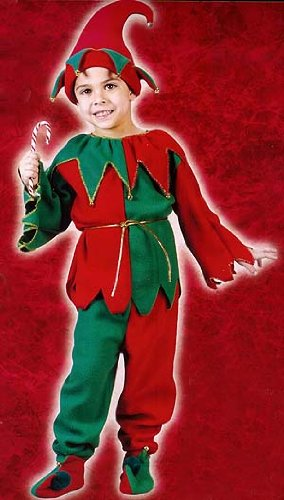 6-Piece Kid's Christmas Elf Costume Set - Size Small (4-6)