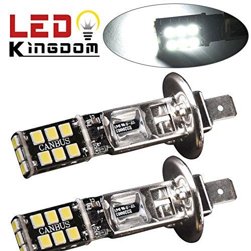 LEDKINGDOMUS 2 X H1 15W High Power White LED Fog Driving DRL Bulb Light (H1 Driving Light compare prices)
