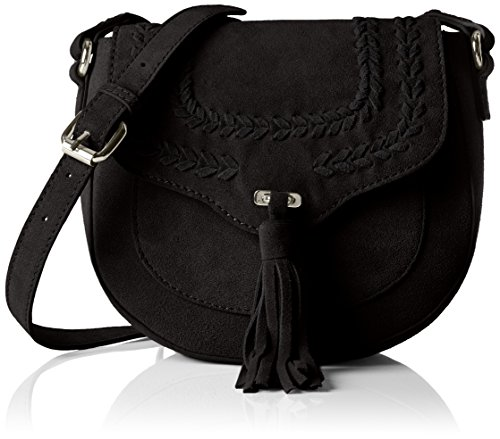 PIECES Pcdaggy Suede Cross Body Bag, Borsa a Tracolla Donna, Nero (Black), 20x18x7 cm (B x H x T)