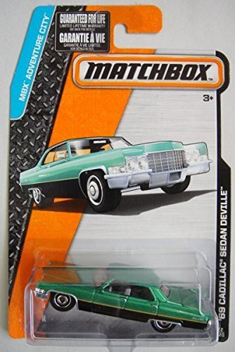 matchbox-mbx-adventure-city-black-green-69-cadillac-sedan-deville-12-120-by-mattel