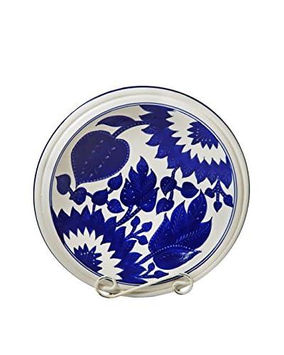 Le Souk Ceramique Jinane Medium Serving Bowl, Blue/White As You See