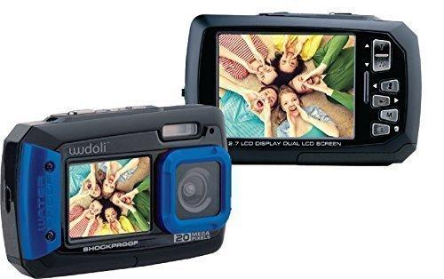 Fotocamera e Videocamera digitale WudoliTM 20MP resistente all'acqua e agli urti - Doppio display LCD full-color - Pienamente resistente all'acqua fino a 3m di profondità