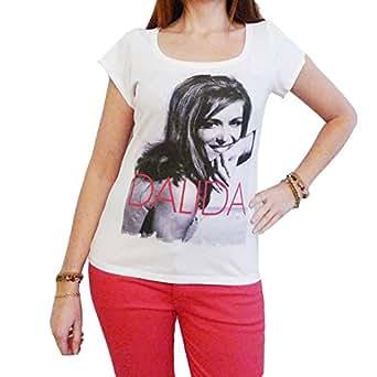 Dalida : T-shirt Femme,Blanc, S, t shirt femme,cadeau