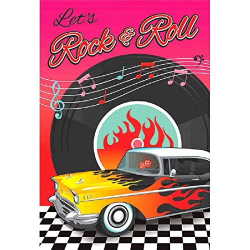 rock n roll einladungskarten set 8 st ck mit stickers und umschl gen zur rockabillyparty. Black Bedroom Furniture Sets. Home Design Ideas