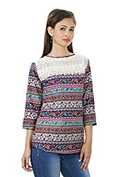 Printed Round Neck Multi Color Top