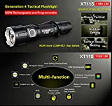 Klarus Improved XT11S SUPER BUNDLE w/ XT11S LED Compact Tactical Rechargeable Flashlight, Rechargeable 18650 Battery, USB Charging Cable, Lanyard, Holster, Pocket Clip, Car Charger, and USB Mini Light