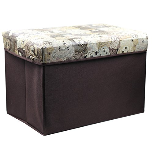 AJ Home Storage Ottoman,Collapsible Storage Bench Seat, Foldable Storage Seating, Foot Rest Coffee Table, Foldable Storage Bin, AS-1004