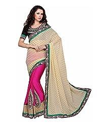 silvermoon women's silk embroidered free size fancy saree-sm_NMTHA109_beige_free size