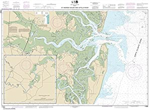 NOAA Chart 11504 St Andrew Sound and Satilla River 347 X 473 WATERPROOF