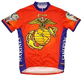 Primal Wear Men s US Marines Military Short Sleeve Cycling Jersey - USMCJER  price f84492f84