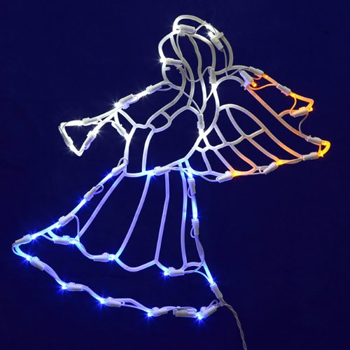 17 lighted led angel with horn christmas window for 17 clear lighted star christmas window silhouette decoration