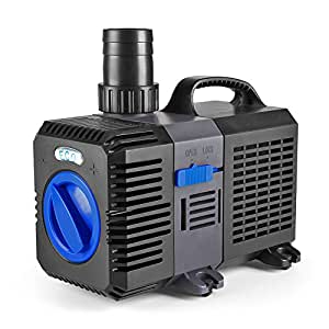 Flexzion pond pump submersible 1200gph for Water filter pump for fish pond