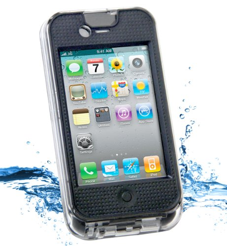 iContact Waterproof Case for iPhone 4 and 4S - Retail Packaging - Clear/Black