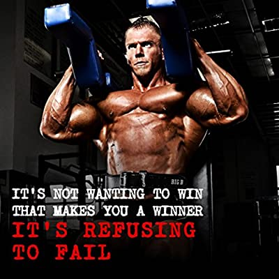 "Bodybuilding Fitness Motivation Motivational Fabric Cloth Rolled Wall Poster Print -- Size: (24"" x 24"" / 13"" x 13"")"