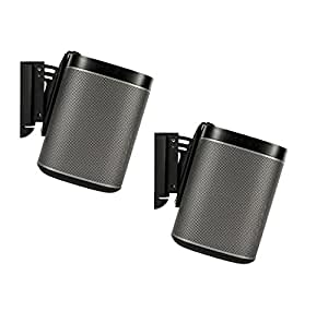 Flexson Tilt and Swivel Wall Mount Bracket for SONOS PLAY:1 - Black (Pack of 2)