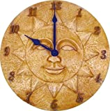 Lawn & Patio - SPRINGFIELD 12 Artisan Decor Polystone Sun Clock - Quartz